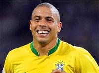 Ronaldo Fenômeno com a camisa da Seleção Brasileira