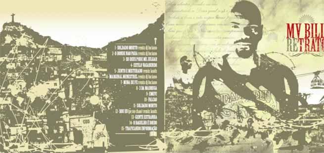 Capa da coletânea Retrato - MV Bill