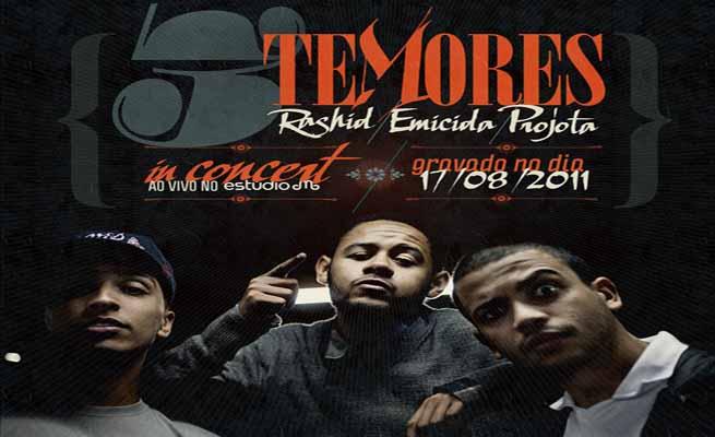 Emicida, Projota, Rashid lançam mixtape d'Os Três Temores