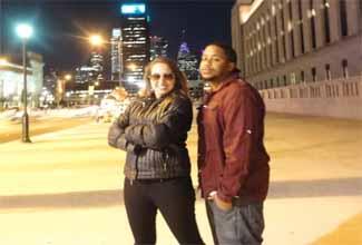 DeDeus e o rapper Boogieman Dela em Philly2Brazil