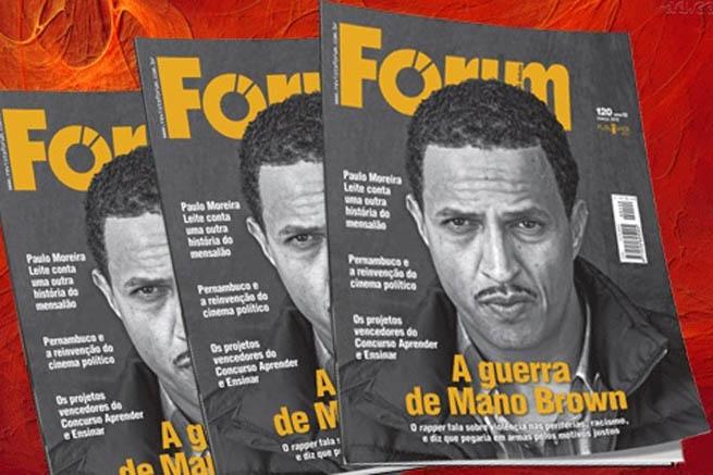 Mano Brown na revista Fórum