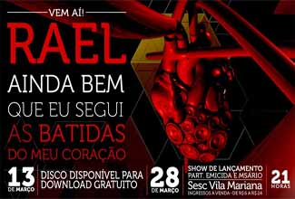 Data do novo disco do Rael é divulgada