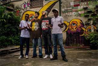 Cabes, Rico PHS, Coruja BC1 e Rincon Sapiência na Casa Fora do Eixo Improvisada