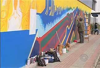 Grafite do Clóvis Truppel em Blumenau