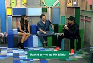 Rashid no programa Mix Diário