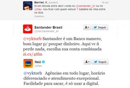 Rinha dos Bancos: Itaú e Santander tentam ganhar cliente em batalha de rimas