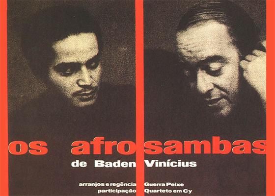 Capa do CD Os Afro-sambas, de Vinícius de Moraes e Baden Powell
