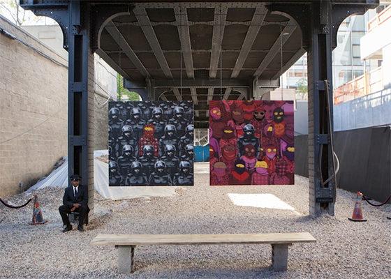 Colaboração de Bansky e Os Gêmeos em Nova York