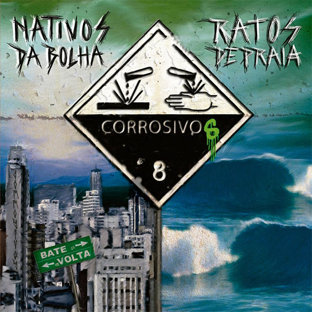 CD Duplo Nativos da Bolha e Ratos de Praia, do Corrosivos