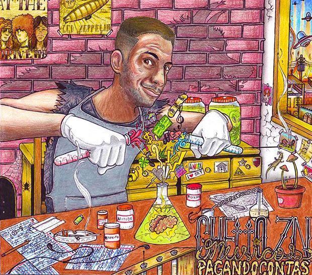 Capa do CD MPC - Músicas Pagando Contas, do Ghetto ZN