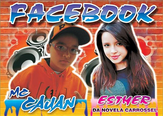 MC Cauan e Esther Marcos na música Facebook