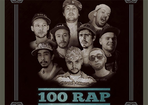 100 RAP, do Zero Grau Kingz, Shaw e Pok Sombra