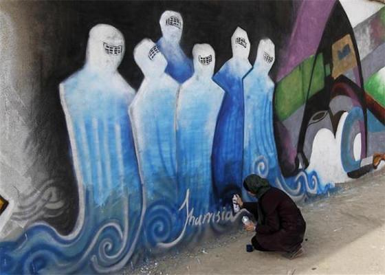 Grafite de Shamsia Hassani