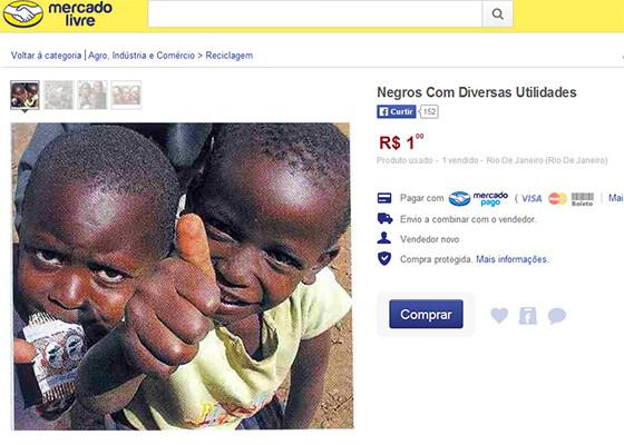 Escravos negros vendidos Mercado Livre