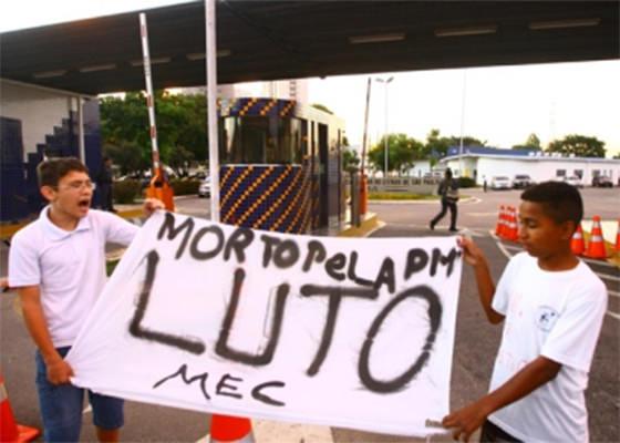 Protesto contra pichador morto pela PM