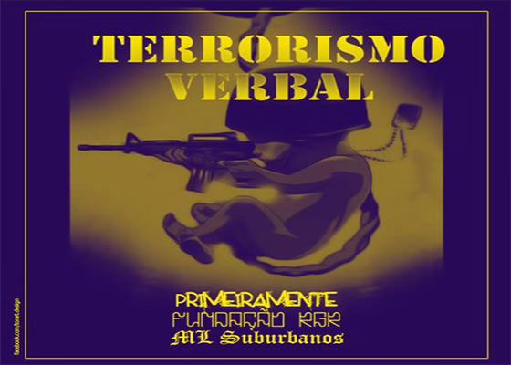 Música Terrorismo Verbal, do PrimeiraMente, Fundação RGR e ML Suburbanos