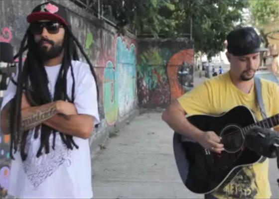 Msário e Bruno Dupre no Projeto Na Rua