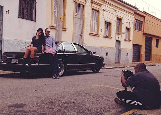 Don L gravando clipe de Beira de Piscina REMIX
