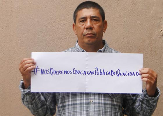 Sergio Vaz lidera campanha por melhor ensino público