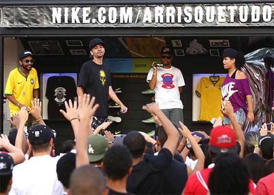Rappers na Batalha das Quadras, da Nike (Foto: Tom Dib)