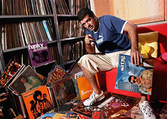 Coleção de vinis do DJ Hum