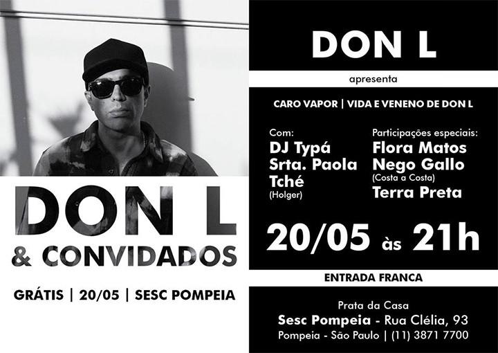 Don L e convidados no SESC Pompéia