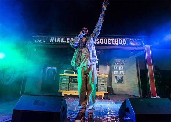 Emicida na Batalha das Quadras de SP, da Nike