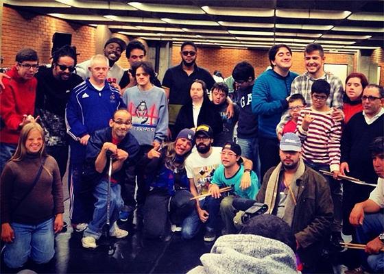 Emicida, Rael e DJ Nyack no Projeto Alma de Batera