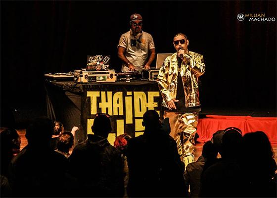 Thaide e DJ Hum nos 25 anos da coletânea Hip Hop Cultura de Rua, na Virada Cultural