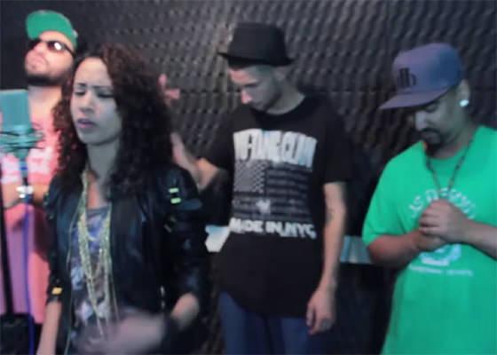 DJ Tikano, Ghetto ZN, Dama Bete e Vinicius Terra na Cypher Moustrack