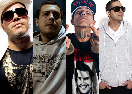 De Leve, Ogi, Funkero e Don L no festival Terra do RAP