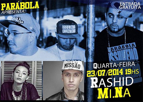 Movimentando o Hip Hop: Parábola convida Rashid e MiNa
