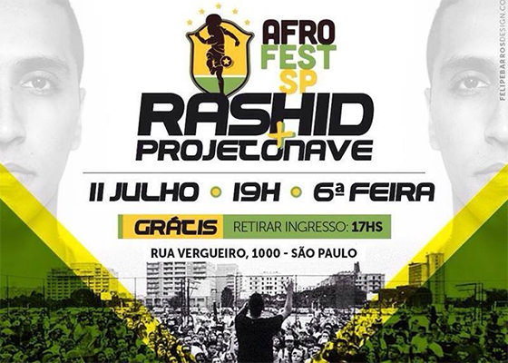 Rashid e Projetonave na Afro Fest em São Paulo
