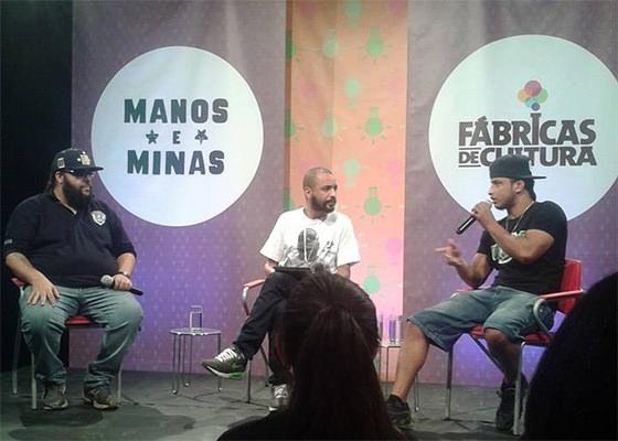 Max BO, Ferréz e MC Garden na Batalha de Ideias