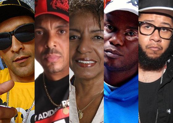 Rhossi, Dexter, Leci Brandão, Rappin Hood, Emicida
