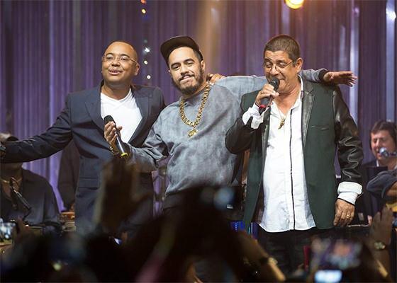Marcelo D2, Zeca Pagodinho e Dudu Nobre no Música Boa Ao Vivo