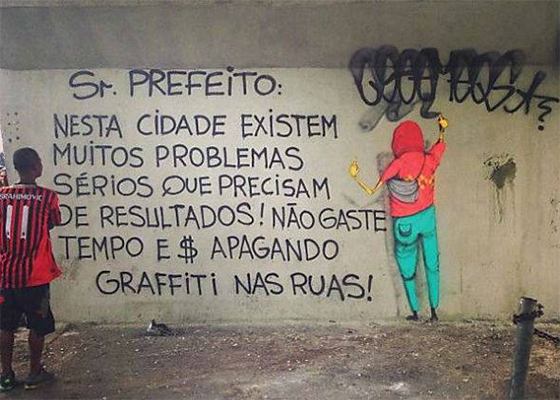 Graffiti Sr. Prefeito, d'Os Gêmeos