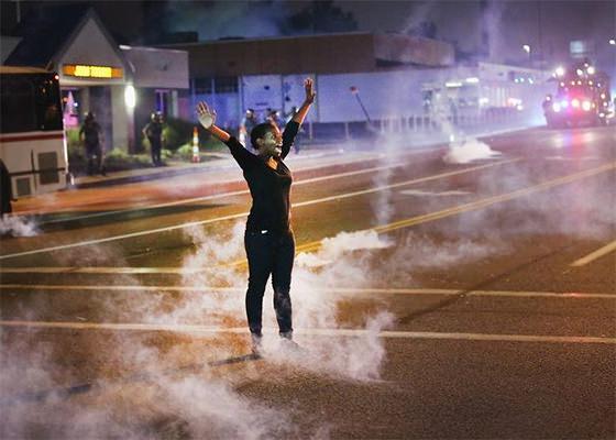 Protestos em Ferguson, Estados Unidos (Foto: Scott Olsen)