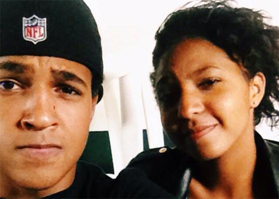 Jorge e Domênica Dias, filho e filha do Mano Brown