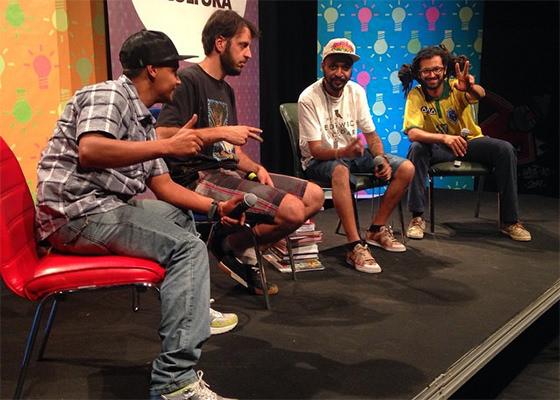Batalha de Ideias sobre Graffiti com Crânio, Mundano e Enive