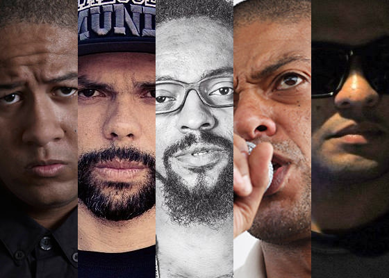 Emicida, Marechal, Rael, DJ KL Jay e Fernandinho Beatbox