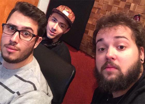 Lucas Tristão, Iuri Stocco e Bolin