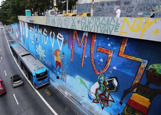 Mural de Graffiti na 23 de maio, em São Paulo