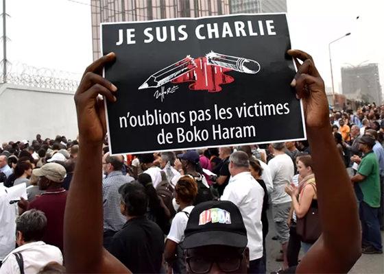 Je Suis Charlie não esqueçam Boko Haram